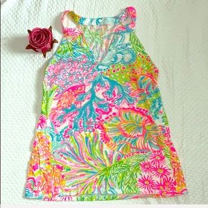 🐬Lilly Pulitzer Colorful Bright Racerback Tanktop